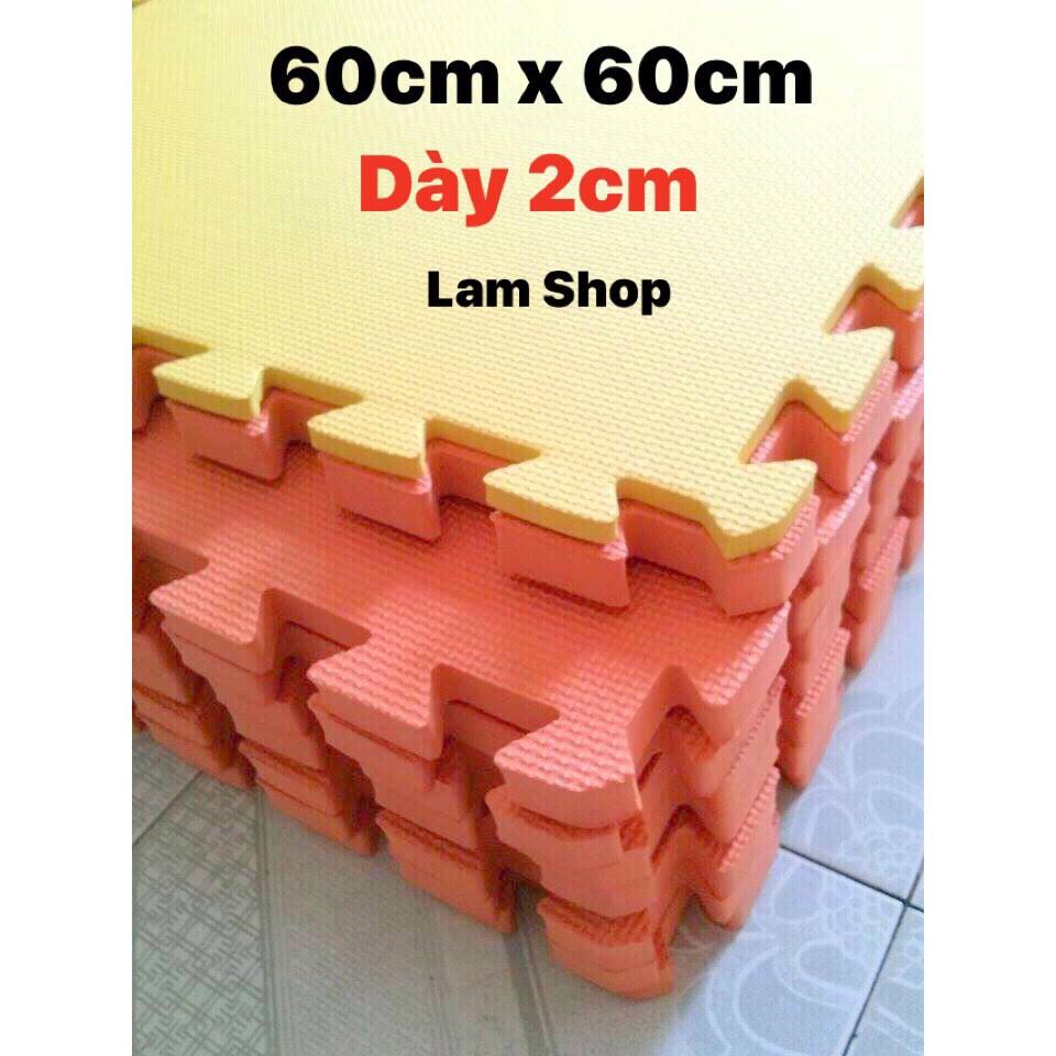 Combo 5 miếng thảm xốp 60cm x 60cm