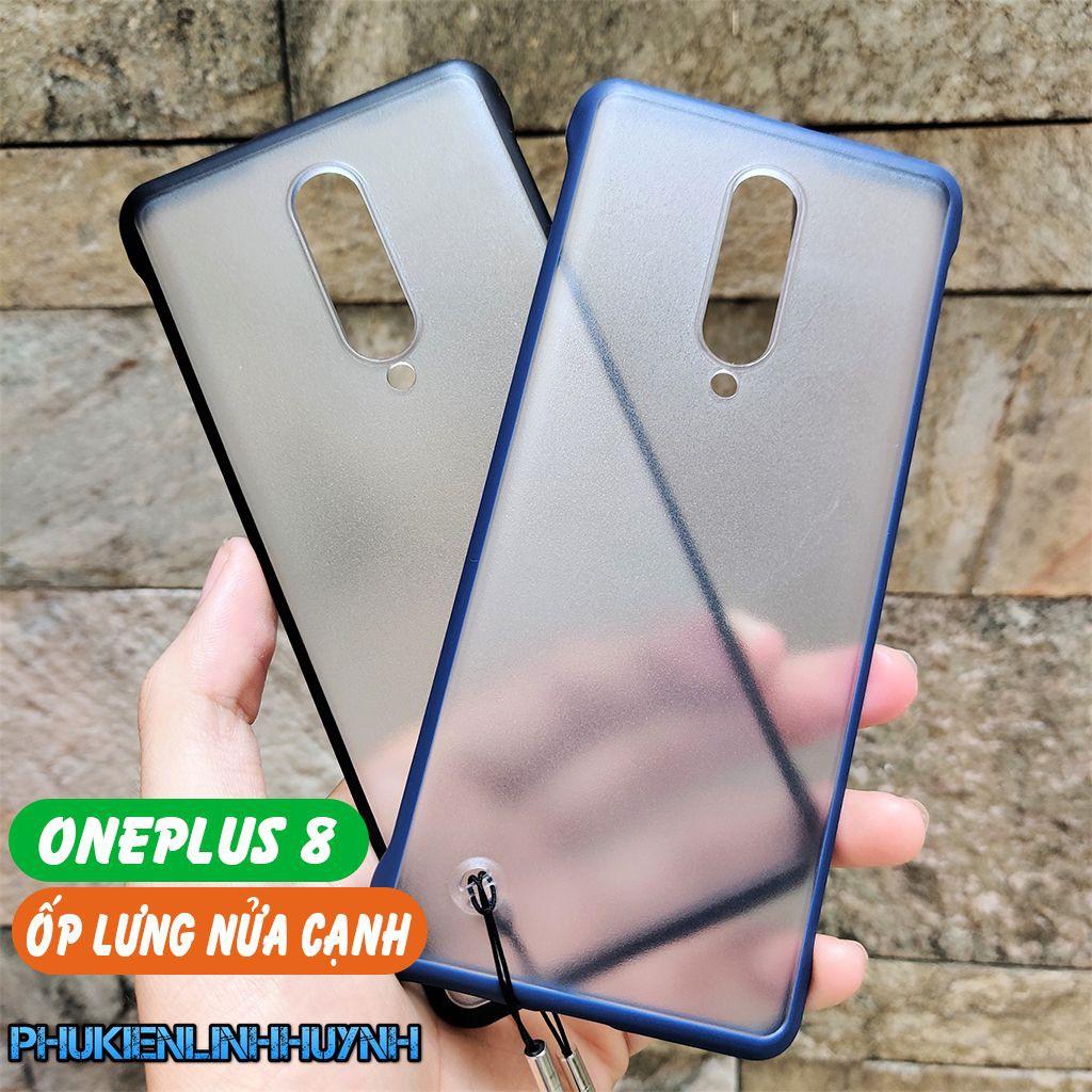 OnePlus 8 Ốp lưng nửa cạnh nhám chống bám vân tay cực chất.