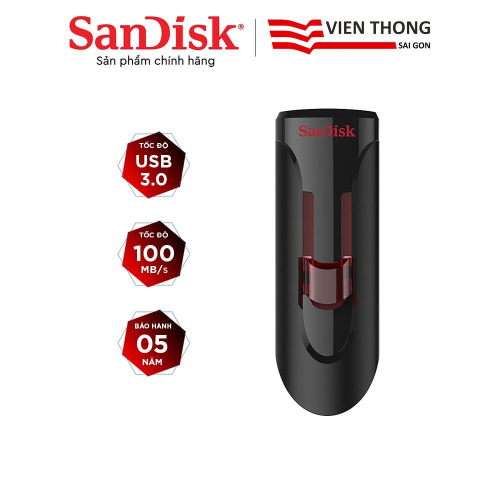USB 3.0 SanDisk CZ600 16GB / 32GB / 64GB Cruzer Glide tốc độ upto 100MB/s - Hãng phân phối chính thức