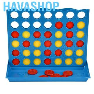 Havashop Kids Classic Educational Toy 4 in Row Chess Connection Tabletop Parent-child Interactive Game