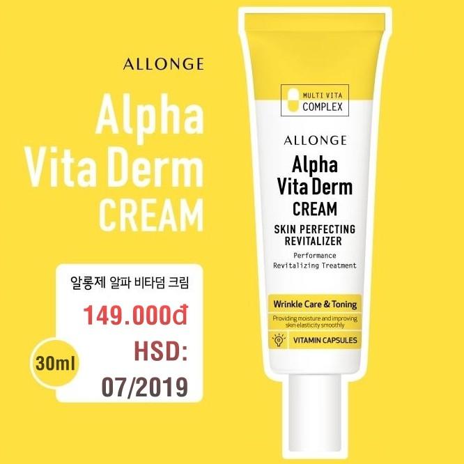 Kem Dưỡng Trắng Da Chống Nhăn Allonge Alpha Vita Derm Cream