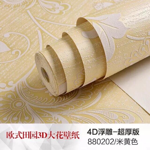 Compo4 cuộn giấy dán tường hoa văn vàng kèm keo dán - 9929218 , 1343756305 , 322_1343756305 , 535000 , Compo4-cuon-giay-dan-tuong-hoa-van-vang-kem-keo-dan-322_1343756305 , shopee.vn , Compo4 cuộn giấy dán tường hoa văn vàng kèm keo dán