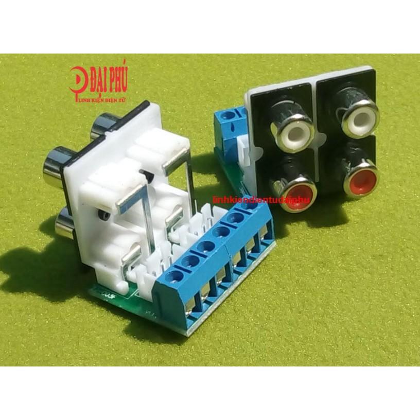 Mạch chuyển jack AV 4 lỗ - 2 bus 3 - 2 domino 3M