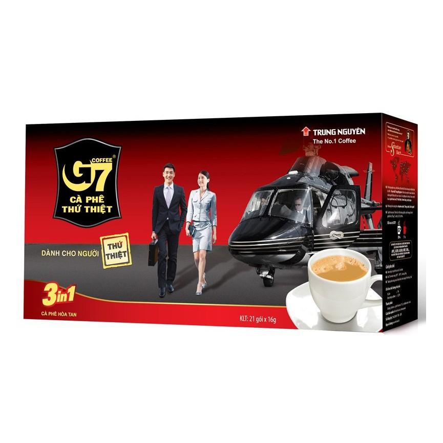 Cà phê sữa G7 3 trong 1 hộp 336g (21 gói)