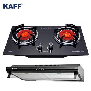 Bếp gas âm hồng ngoại Kaff KF-208i + Máy hút mùi nhà bếp cổ điển 7 tấc Kaff