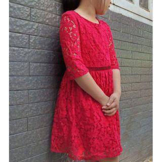 Đầm ren đỏ bé gái F&F xuất khẩu 18kg -55kg