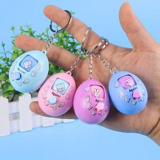 Móc khóa trứng oẳn tù tì kéo búa bao nút xoay ngẫu nhiên màu sắc kẹo ngọt đáng yêu BBShine – DC016