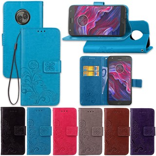 PU Leather Flip Wallet Case with Card Slot and Kickstand for Motorola Moto X Style E5 G7 Z4 Z Force E6 PLAY