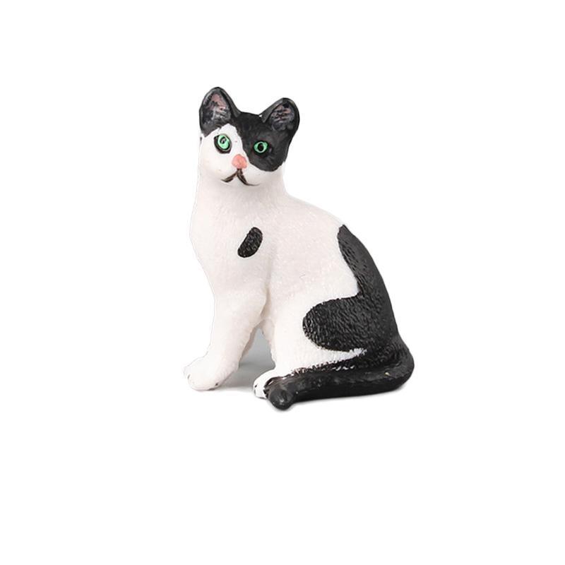 Realistic Plastic Wild Farm Animal Cat Models Figurine Kids Educational Toys