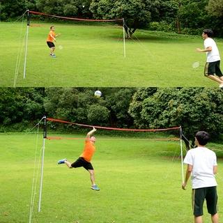 Di động di động nhanh tiêu chuẩn cỏ bãi biển bóng chuyền lưới kết hợp thumbnail