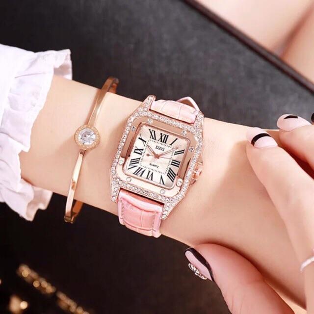 Đồng hồ nữ dây da cực sang .