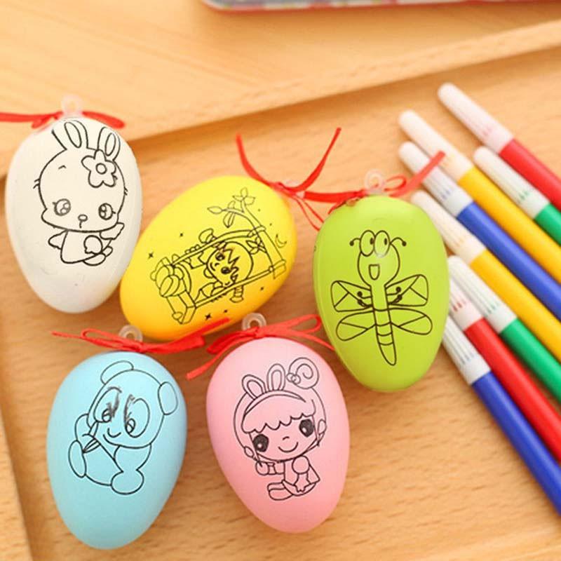Giá Xuất Xưởng -Quả trứng tô màu cho bé + Bút màu- SH1221