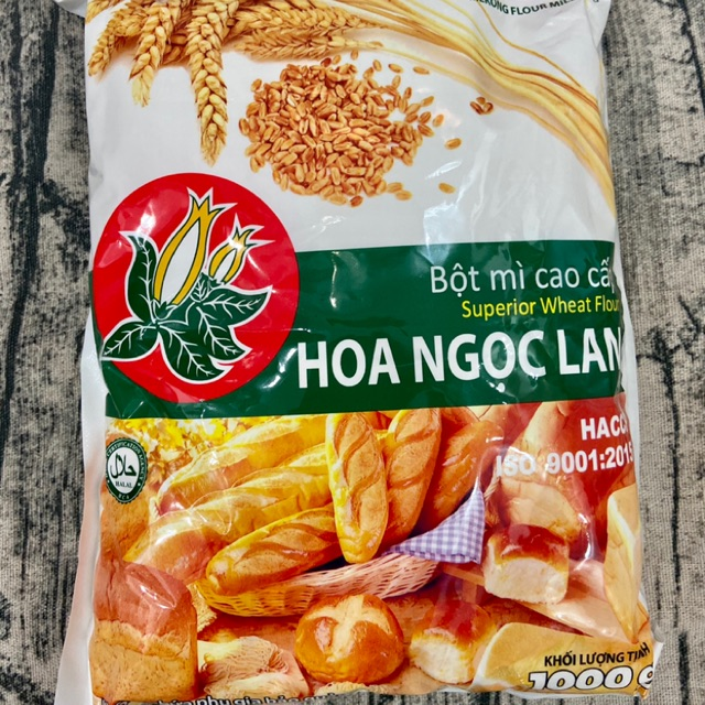 [Mã 1510FMCGSALE giảm 8% đơn 500K] Bột mì Hoa Ngọc Lan 1kg