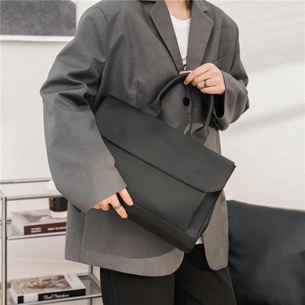 Cặp xách nam đẹp cao cấp thời trang T3081, Túi xách nam công sở hàng hiệu cam kết da siêu bền đựng được laptop 14 inch