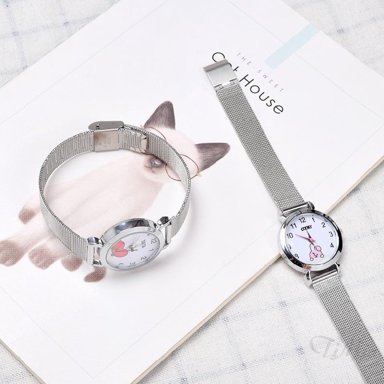 Đồng hồ điện tử đeo tay kiểu dáng Hàn Quốc dành cho fan hâm mộ BTS