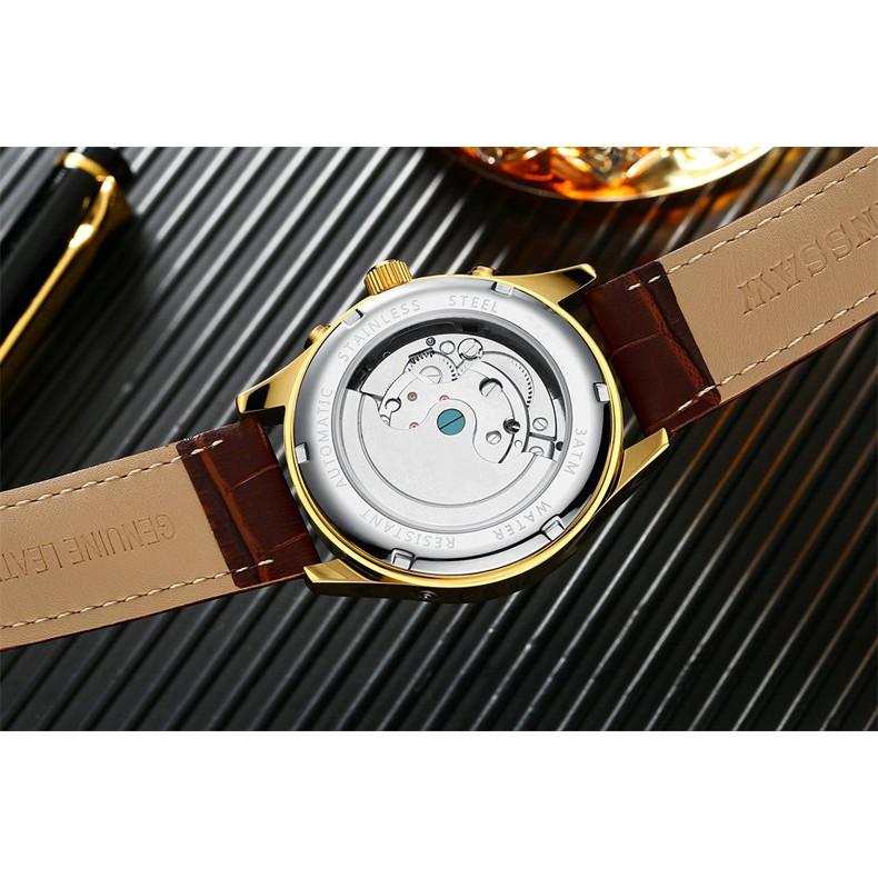 Đồng hồ Nam Kinyued chính hãng, Đông hồ Cơ tự động cao cấp- Fullbox,