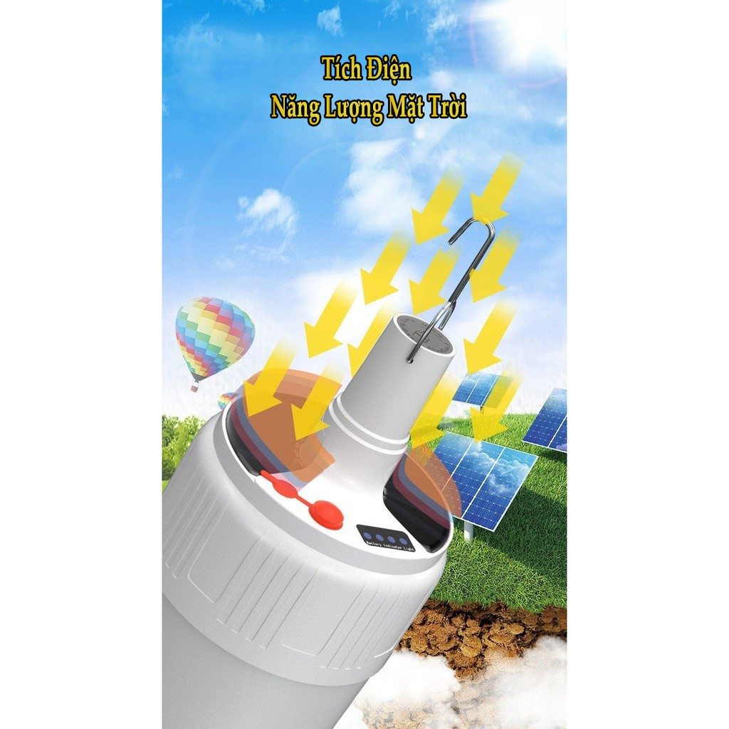 Đèn Tích Điện Năng Điều Khiển Từ Xa Sạc Bằng Điện 40W Thời Gian Sáng 5-8H Có  Remote Điều Khiển Và Sạc Năng Lượng Mặt Trờ