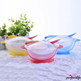★HZLBaby Kids Feeding Training Bowl +Spoon Suction Tableware Set