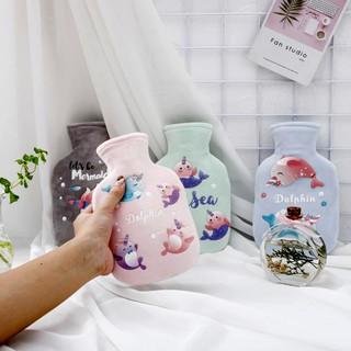 Túi chườm bụng 350ml, túi nước nóng giữ nhiệt chườm ấm nóng đau bụng con gái.