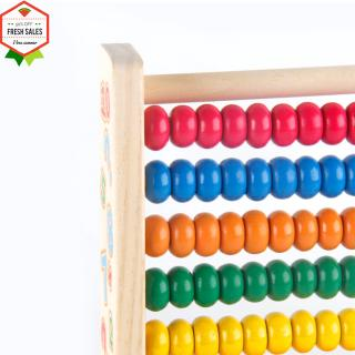 Wooden 10 Rows Abacus with Colorful Beads for Counting Kid Maths Learning Educational Toy