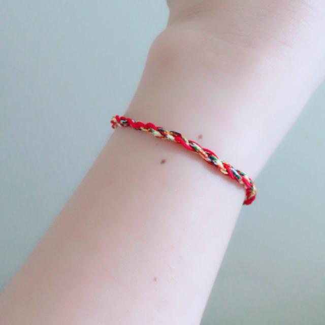 Vòng tay nữ dây ngũ sắc tết chỉ đỏ may mắn bình an tháng 7 âm lịch