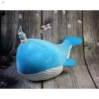 [Safe]Gấu bông cá voi có sừng đáng yêu, nhiều màu siêu ngộ nghĩnh