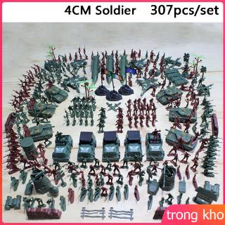 307pcs/lot Military Plastic Soldier Model Toy Army Men Figures Accessories Kit Decor Play Set