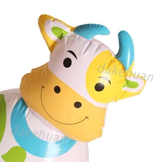 DK* PVC Inflatable Tumbler Children Toy Cute Cartoon Animal Shape Design with Bell