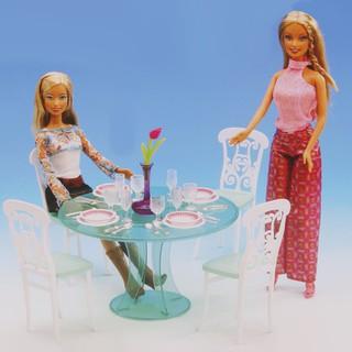 Bộ bàn ăn đồ chơi cỡ 12inch trang trí nhà búp bê tiện dụng