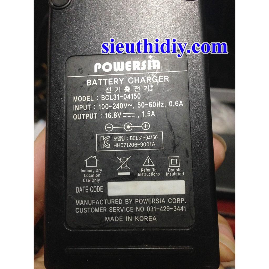 Sạc pin Powersin BCL31-04150 16.8V 1.5A cho 4 cell nối tiếp NguonSDIY