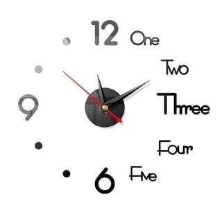 Đồng hồ decor dán tường sang trọng