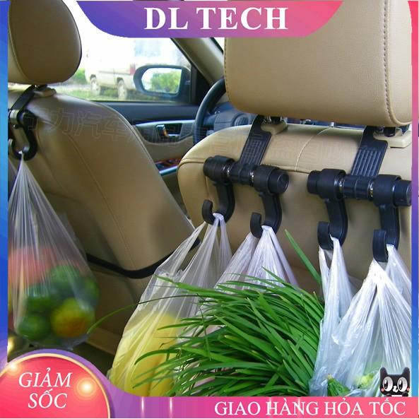 Móc Treo Đồ Ô Tô gài Sau Ghế xe hơi kiêm giá đỡ điện thoại MT2 DL TECH