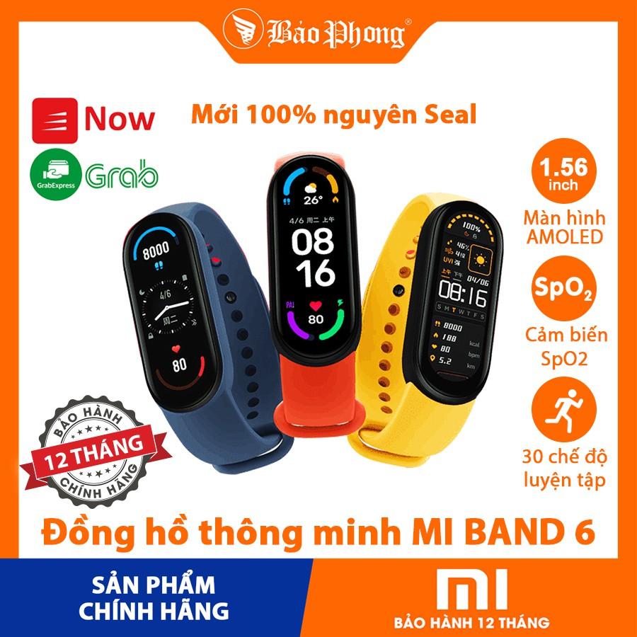 Đồng hồ thông minh XIAOMI Mi Band 6 Vòng đeo tay Miband 6 đo sức khoẻ tập thể dục thể thao chính hãng thông minh giá rẻ