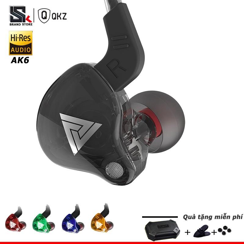 Tai nghe nhét tai QKZ AK6 có dây chống ồn âm thanh HiFi chất lượng cao