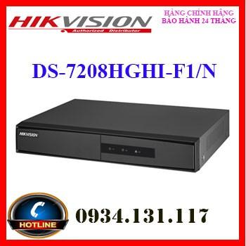 Đầu ghi hình HD-TVI 8 kênh TURBO 3.0 HIKVISION DS-7208HGHI-F1/N (S) (THẾ DS-7208HGHI-F1/N)