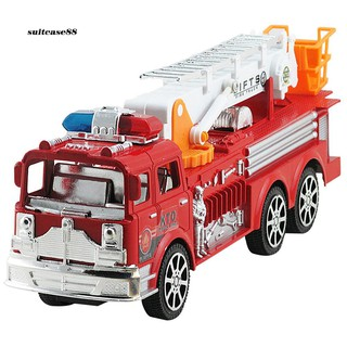 STCS♥Simulation Ladder Truck Firetruck Toy Educational Vehicle Model for Kids Boys
