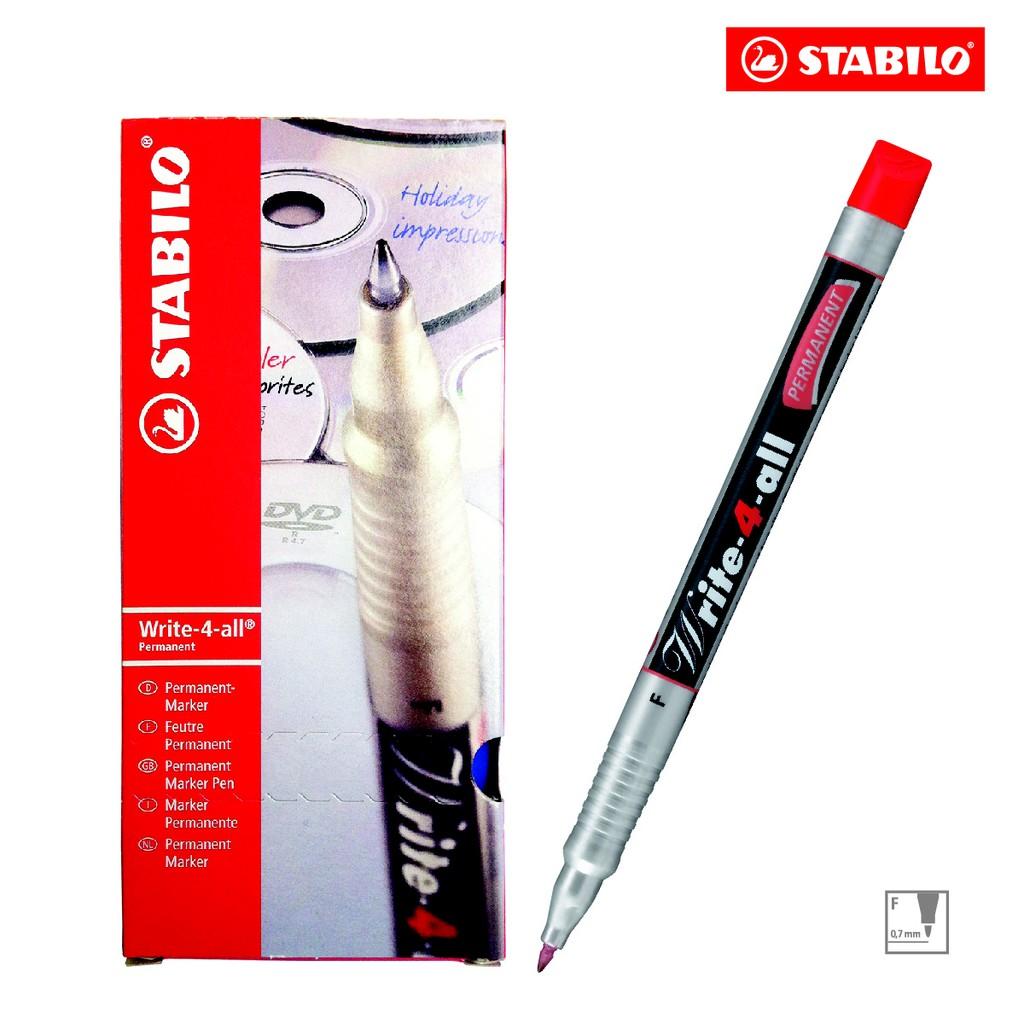 Hộp 10 cây bút kỹ thuật STABILO Write-4-all Permanent F (màu đỏ) - 3054012 , 272189963 , 322_272189963 , 407000 , Hop-10-cay-but-ky-thuat-STABILO-Write-4-all-Permanent-F-mau-do-322_272189963 , shopee.vn , Hộp 10 cây bút kỹ thuật STABILO Write-4-all Permanent F (màu đỏ)