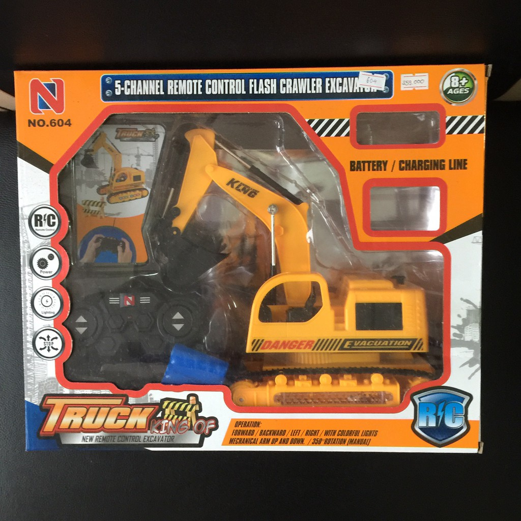 Máy xúc có điều khiển giá rẻ – Cần cẩu điều khiển King of Truck cỡ lớn
