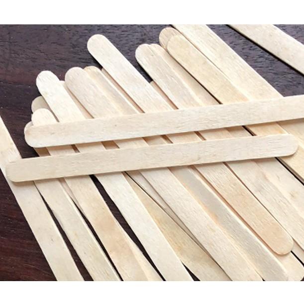 Bó 50 thanh gỗ mộc làm mô hình handmade