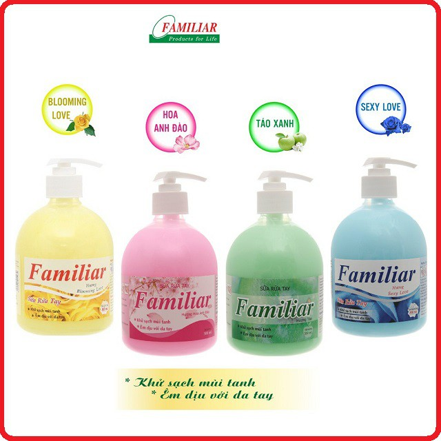 Nước Rửa Tay kháng khuẩn khử mùi Familiar 500ml