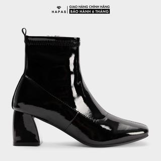 Giầy Bốt Nữ Boot Da Bóng Cổ Thấp 5Phân HAPAS - BOT527