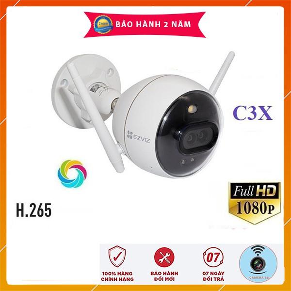 Camera IP WIFI 2M Ngoài Trời  AI Thông Minh EZVIZ C3N C3X (1080P) Màu Ban Đêm CHÍNH HÃNG - BH 24TH C3WN C3W HIKVISION