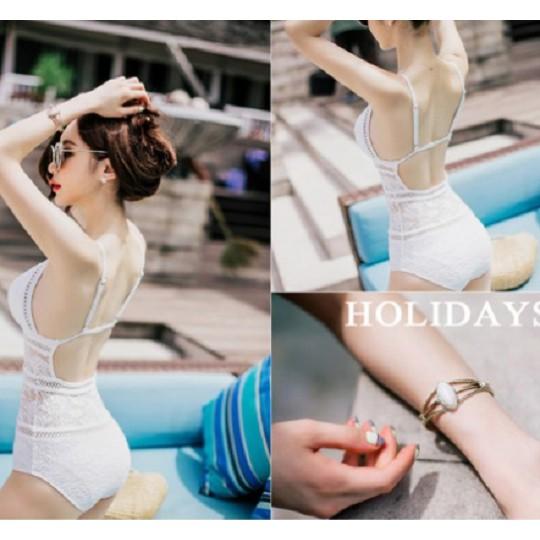 Bộ Đồ bơi đi tắm biển nữ Bikini 1 mảnh (Set Áo liền quần) Ren 18006 - Phân phối KIT Sportvn