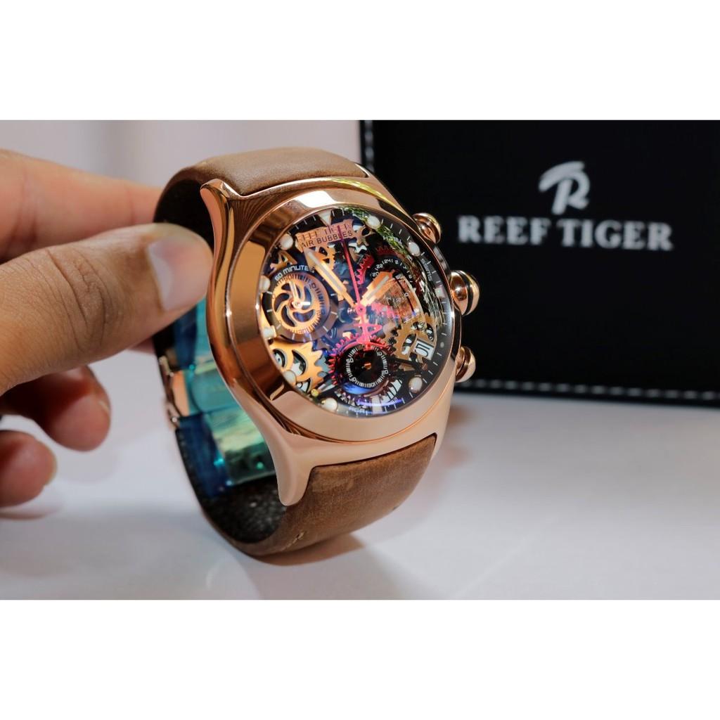 Đồng Hồ Reef Tiger Big Bang RGA792 Dây Da Chính Hãng