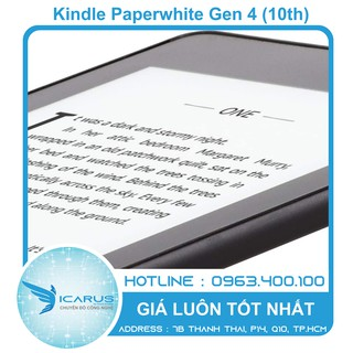 Máy đọc sách Kindle Paperwhite Gen 4 (10th) Chính hãng Mới 100%