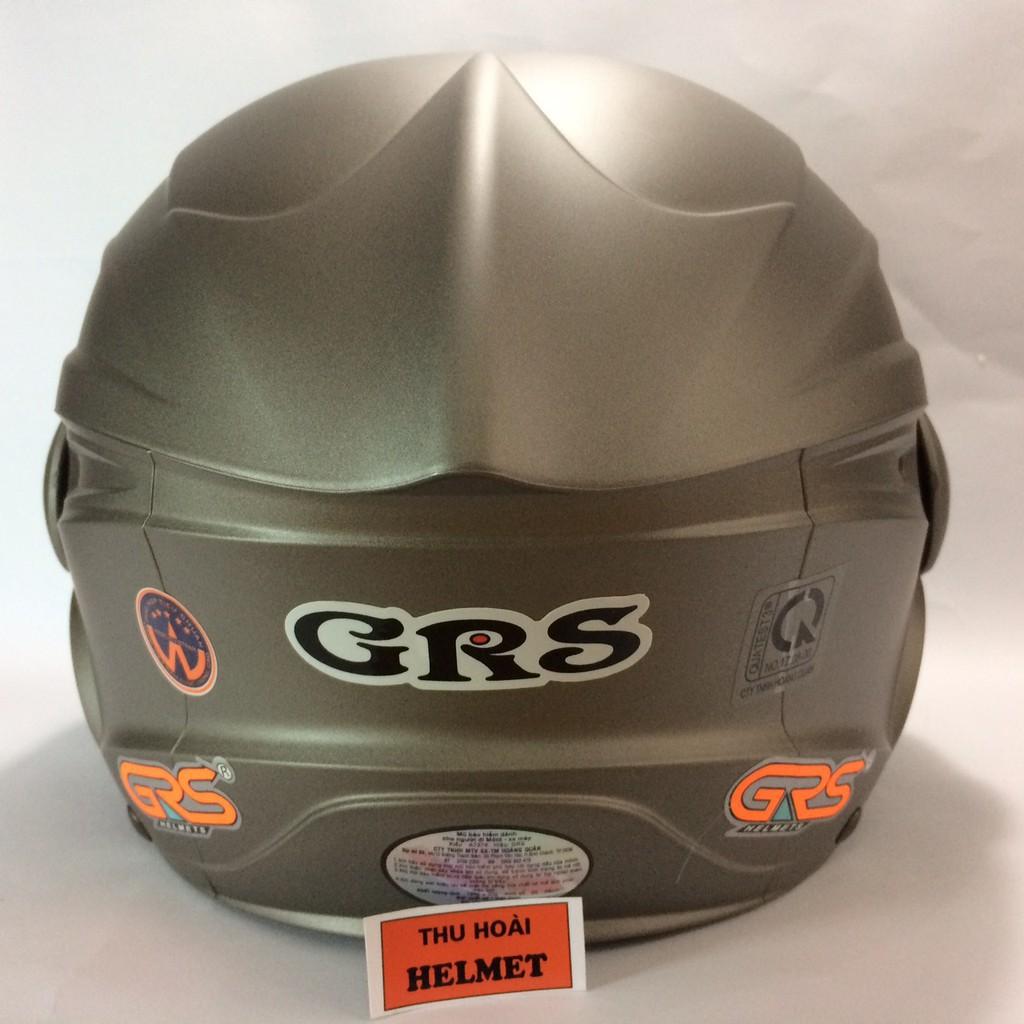 BIG SALE - Mũ bảo hiểm GRS A737K xám nhám