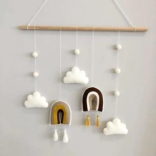 Miếng Dán Tường Hình Đám Mây Màu Cầu Vồng