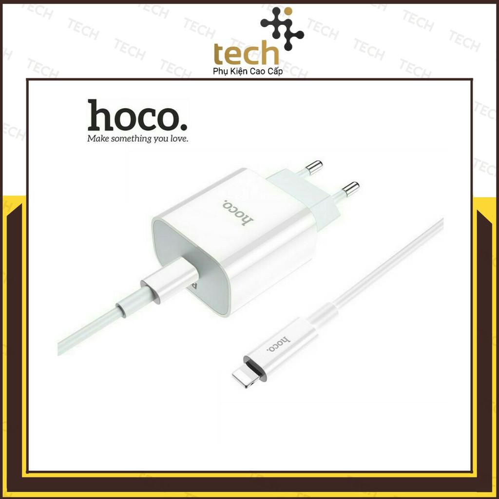 Bộ Sạc Nhanh Siêu Tốc Hoco C76A Hỗ Trợ Sạc Nhanh PD3.0 18W Cho Iphone/Ipad