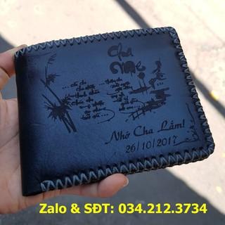 Ví name card khắc tên theo yêu cầu (nhiều màu)