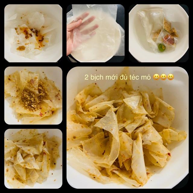 9 loại bánh tráng tây ninh sate, me, bơ, ruốc, muối tỏi xike, muối chay hành phi, bánh tráng trộn thập cẩm.